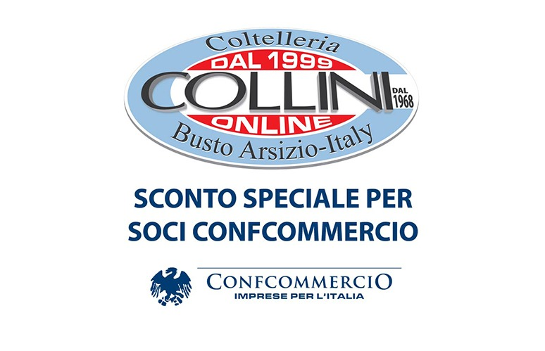 SCONTO SPECIALE SOCI CONFCOMMERCIO SU TUTTO IL CATALOGO ONLINE