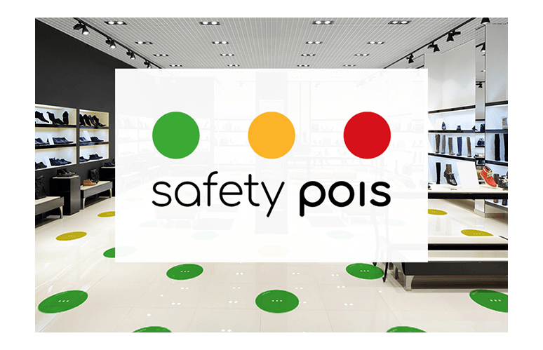 SAFETY POIS SEGNALETICA PER SOCIAL DISTANCING E GESTIONE FLUSSI
